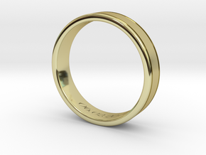 Classy Gentlemans Wedding Band in 18k Gold Plated Brass: 11 / 64