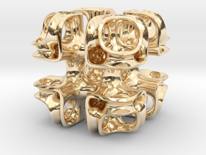 Cubic Lattice in 14k Gold Plated Brass