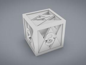 Triforce D6 in White Natural Versatile Plastic
