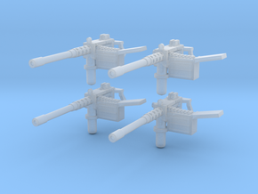 Machine guns 28mm scale for 3mm holes in Smoothest Fine Detail Plastic