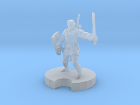 1/87 scale Medieval Knight in Smoothest Fine Detail Plastic