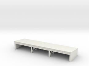 1:285 Wooden hangar II in White Natural Versatile Plastic