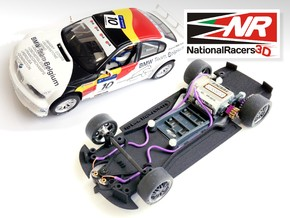 3D chassis for Fly 320i/M3 GTR (Combo)  in Black Natural Versatile Plastic