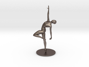 Ballerina keys holder in Polished Bronzed Silver Steel
