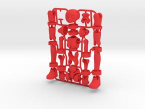 Ersatz MkII action figure Female Body in Red Processed Versatile Plastic