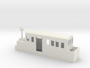 HOn30 / OO9 Geared locomotive in White Natural Versatile Plastic: 1:87 - HO