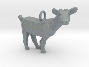 Goat Pendant in Polished Metallic Plastic