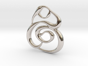 Swirly circles in Rhodium Plated Brass