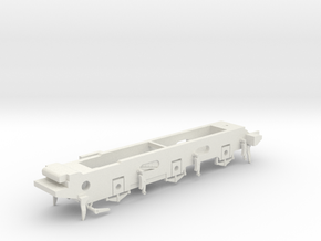 LB&SCR E2 - 9.5mm - Gauge 1 - 40mm BtoB - Chassis in White Natural Versatile Plastic