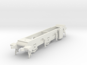 LB&SCR E2 - 10mm - Gauge 1 - 40mm BtoB - Chassis in White Natural Versatile Plastic