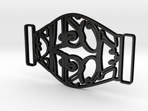 Personalised Mirrored Name Buckle (001) in Matte Black Steel