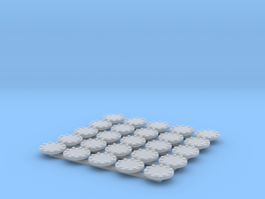 manhole oval 6mm 25pc in Smooth Fine Detail Plastic