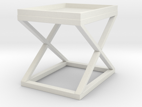 Miniature Side Table Mcarthur - Eichholtz in White Natural Versatile Plastic: 1:12