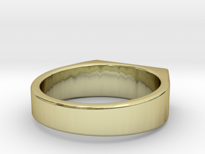 Seal Ring (gold/silver) in 18k Gold: 5 / 49