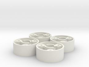 4 jantes MR03 avant D20 pour flans 3D +0 in White Natural Versatile Plastic