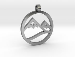 Texas 4000 Rockies Route Pendant in Polished Silver