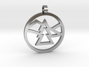 Texas 4000 Ozarks Route Pendant in Polished Silver