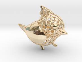 Titmouse BIRD in 14K Yellow Gold