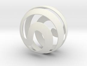 Sphere  in White Natural Versatile Plastic