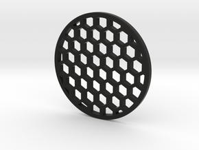 Honeycomb 47.05mm in Black Natural Versatile Plastic