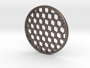 Honeycomb 47.05mm in Polished Bronzed Silver Steel