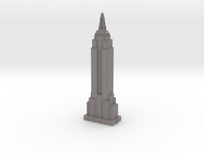 Empire State Building - Gray with White Windows in Full Color Sandstone