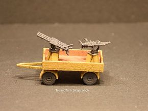 1/144 Flak Drilling trailer in White Natural Versatile Plastic