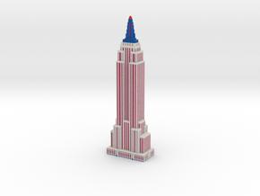 Empire State Building - Patriotic - Color Scheme 3 in Full Color Sandstone