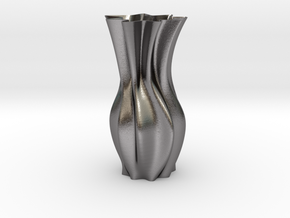 "Tall Wave Vase ( 15-30cm  /  6-12"" ) in Polished Nickel Steel: Small"