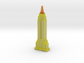 Empire State Building - Yellow w Black windows in Full Color Sandstone