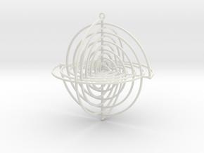 Orthogonal Spirals in White Natural Versatile Plastic