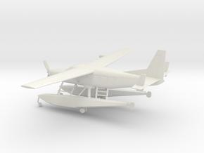 Cessna 208A Caravan Amphibian in White Natural Versatile Plastic: 1:72