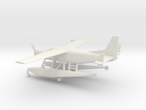 Cessna 208A Caravan Amphibian in White Natural Versatile Plastic: 1:100