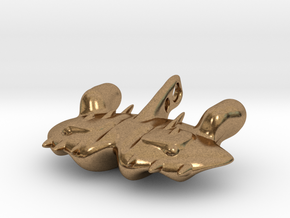 The dreaded Space-Manta-Ray in Natural Brass