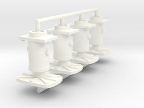 PBA buffers 7mm solid X4 in White Processed Versatile Plastic