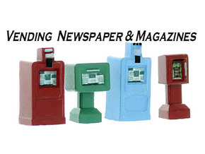 NewsPaper Vending Machines HO Scale in Smooth Fine Detail Plastic