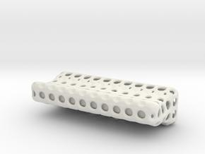 Shapeways_Ventilfederwaage-Teile in White Natural Versatile Plastic
