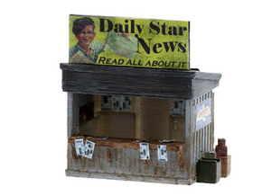 Newspaper Stand HO Scale in White Natural Versatile Plastic