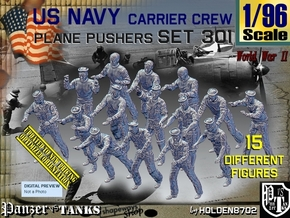 1/96 USN Carrier Deck Pushers Set301 in Smooth Fine Detail Plastic