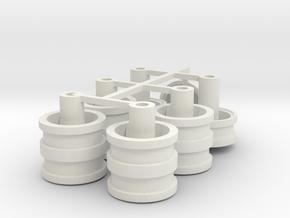 Velgen 4 driehoek  gaten voor  Lion Toys 21x 5mm in White Natural Versatile Plastic