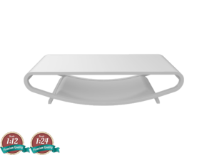 Miniature Balance Coffee Table - Nova Modern in White Natural Versatile Plastic: 1:24