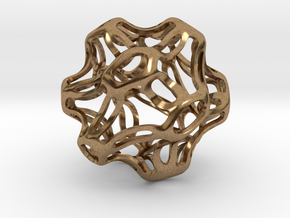 Symmetrical Sphere Twisted  in Natural Brass