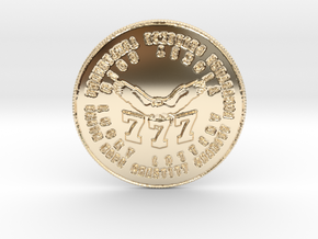 Soaring 777 Coin of 7 Virtues in 14k Gold Plated Brass