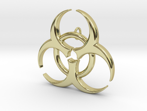 Biohazard in 18k Gold Plated Brass