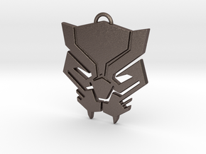 Black Panther Pendant in Polished Bronzed Silver Steel