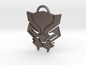 Black Panther Keychain in Polished Bronzed Silver Steel