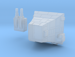 Mid-sized Turbo Laser Battery - Scenerio Parts in Smooth Fine Detail Plastic