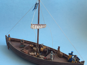Medieval cargo ship, Knarr in White Strong & Flexible