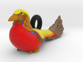 Golden Pheasant Ornament in Full Color Sandstone