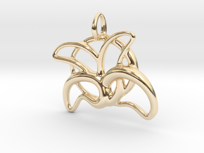 leafs of flower in 14K Yellow Gold